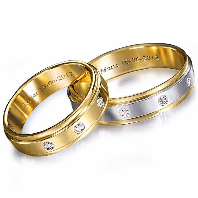 597e9a22484d Alianzas de Compromiso Promesa Eterna  Oro amarillo de Primera Ley