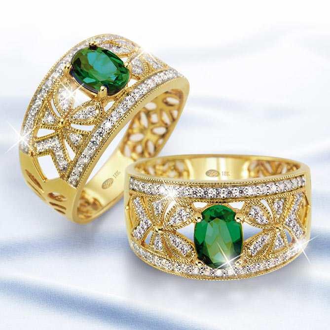 9fad8cf6d8d8 Anillo de emeralda y diamantes
