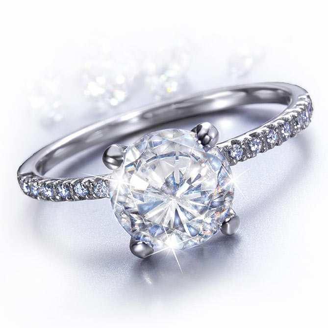 sitio de buena reputación 9e935 519aa Solitario de Topacio y Diamantes Je t´aime | Galería del ...
