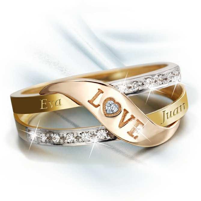 revisa 9d7ab 79650 Anillo de oro y diamantes LOVE | Galería del Coleccionista