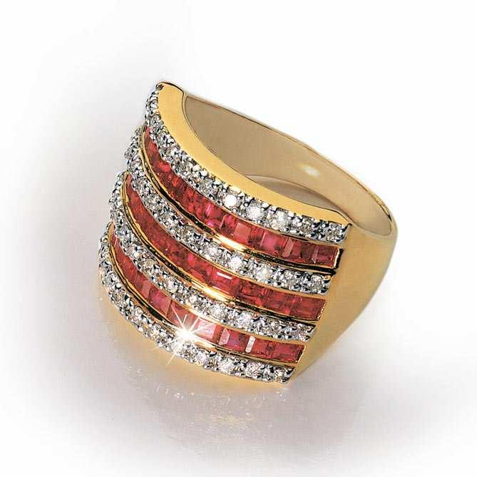 Anillo de oro diamantes y rub es la scala galer a del for Galeria del coleccionista vajillas