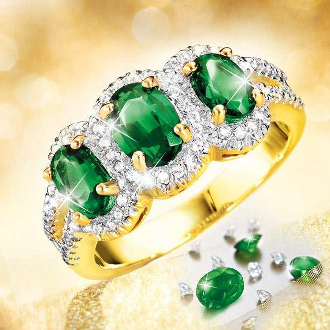Boutique en ligne 980ff 5f0fa Anillo de esmeraldas, diamantes y oro, Imperio | Galería del ...