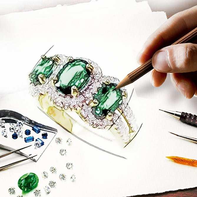 Anillo de esmeraldas diamantes y oro imperio galer a for Galeria del coleccionista vajillas