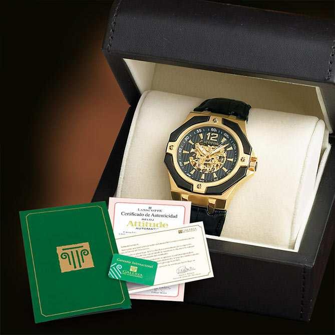 680b26198148 Reloj elegante de hombre en acero y oro