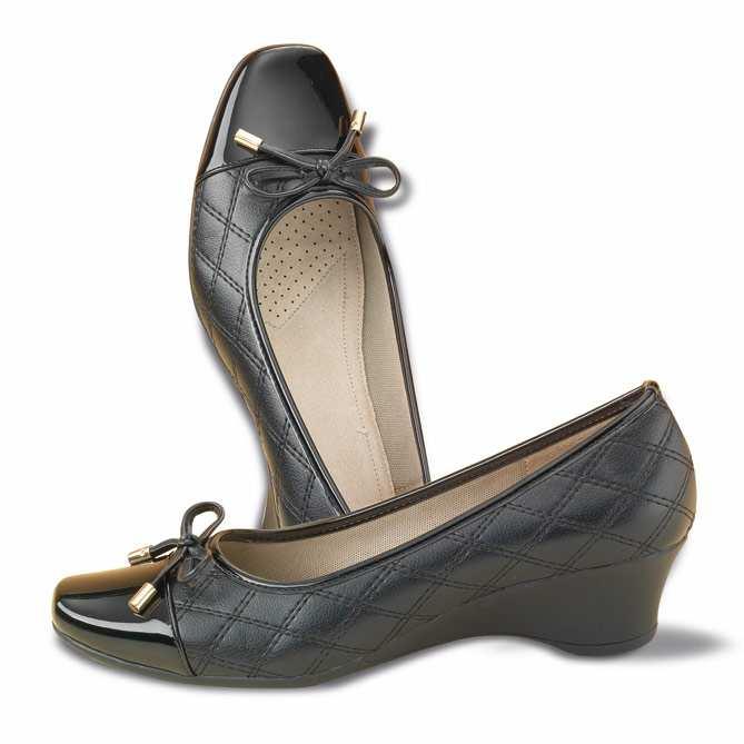 41c0ab64 Conjunto de Zapatos y Bolso Confort Lady: Plantilla extramullida de piel  auténtica efecto nube.
