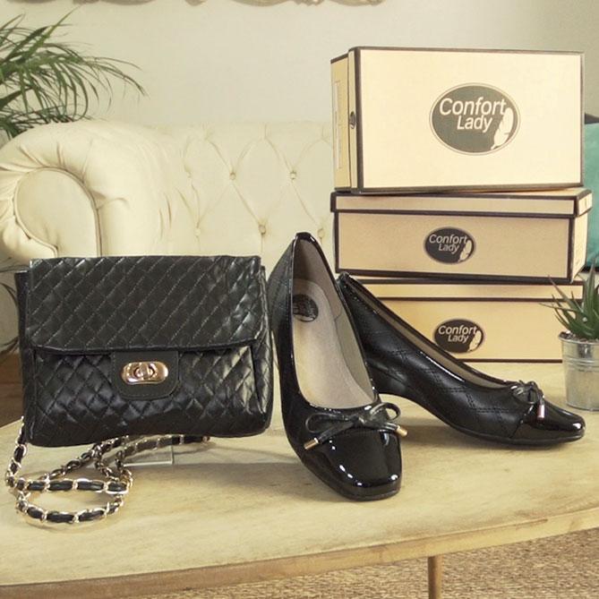 ea1fab3a Conjunto de Zapatos y Bolso Confort Lady | Galería del Coleccionista