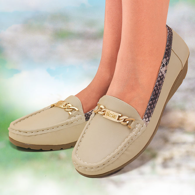 Mocasines Lady Chic de piel auténtica: Superflexibles y transpirables