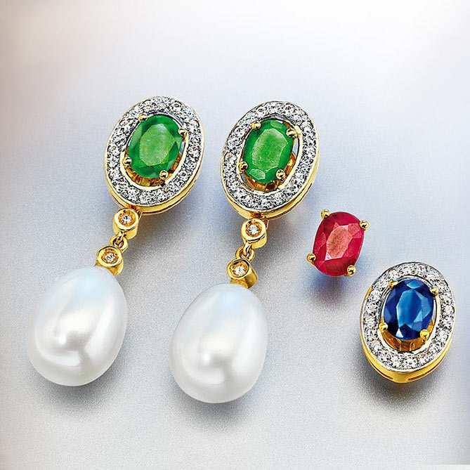 Pendientes de esmeraldas zafiros y rub es emperatriz de - Fotos de pendientes ...