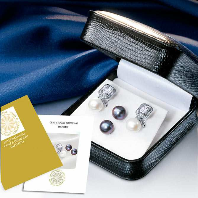 selección premium 32083 aa142 Pendientes de diamantes y perlas The Queen | Galería del ...