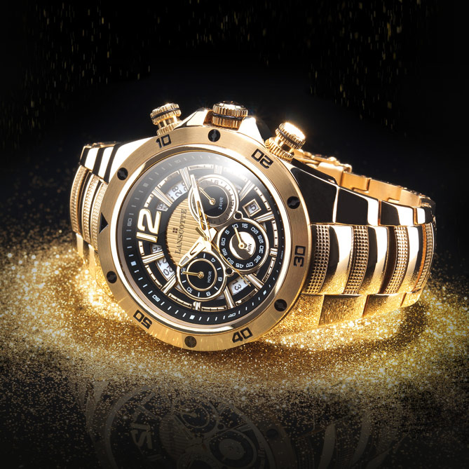 Reloj Absolute Gold: Calendario Open Date con ventana a las 4h