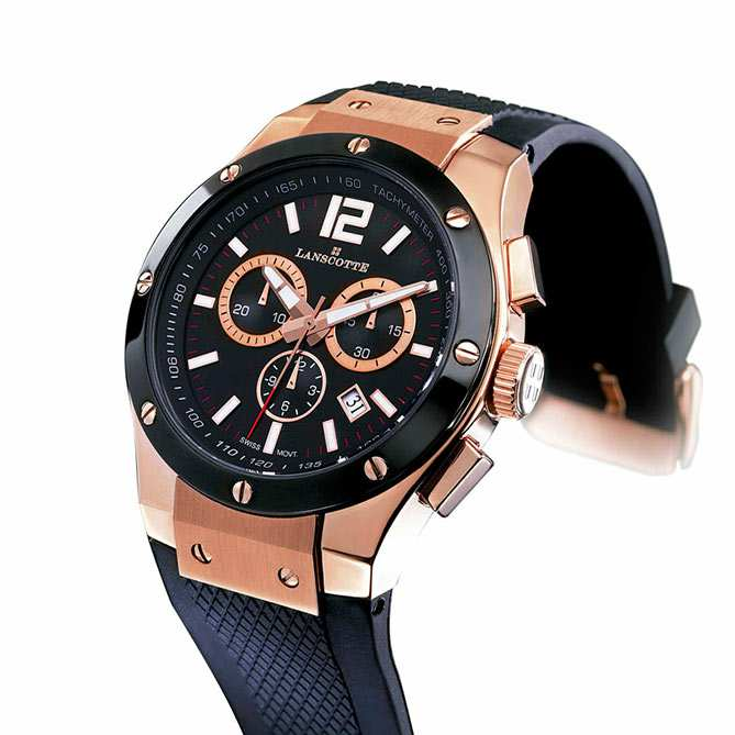 Reloj Deportivo De Oro Basel Chronograph Galer 237 A Del