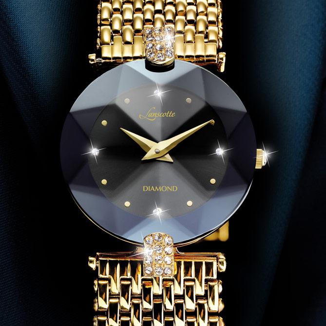 f38d2c144a02 Reloj-Joya BLACK DIAMOND  4 Diamantes auténtico a las 12