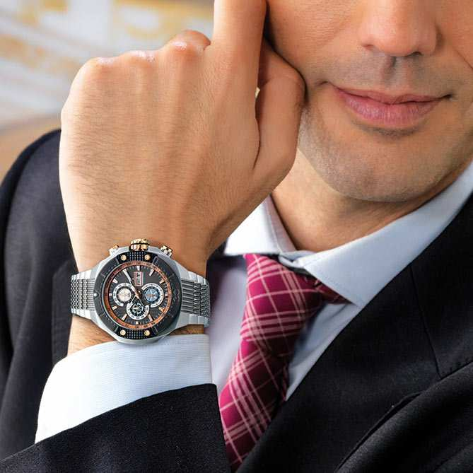 Reloj cron grafo de acero oro y titanio excellence for Galeria del coleccionista vajillas