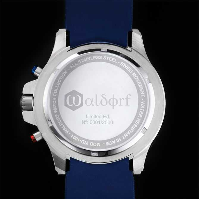 Reloj-Cronógrafo Lexington CV-2: Cristal mineral endurecido prácticamente irrayable