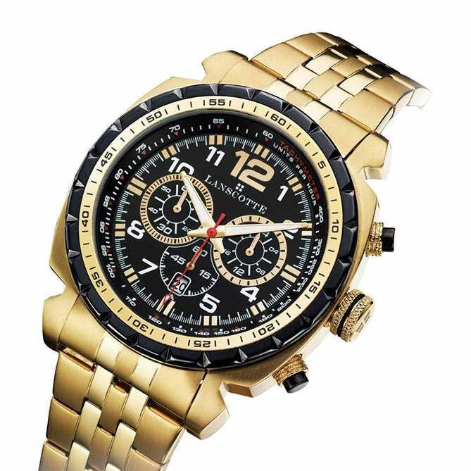 Reloj Cronógrafo de acero y oro London   Acero Quirúrgico acabado en Oro de  1ª Ley 8a91ff291153