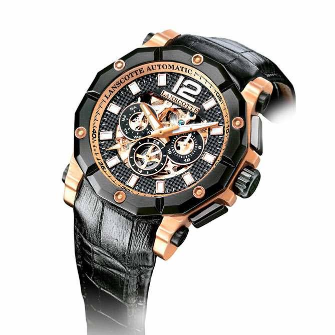 8c045c92ba3a Reloj de oro rosa Ultimate   Maquinaria automática a la vista de 198 piezas  y 20