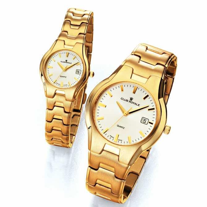 5db17ad6c Relojes para mujer y hombre de oro, Club Royale: Caja, corona y brazalete