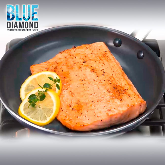 Set Sartén Blue Diamond: Los diamantes son perfectos conductores del calor